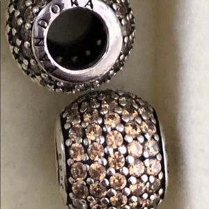 Pandora pave champagne one left!